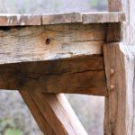 Balcon en charpente traditionelle - détail