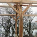 Bâtiment agricole en charpente traditionnelle