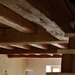 plafond de chêne et épicéa